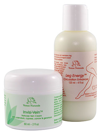 varicose veins cream and leg lotion combo